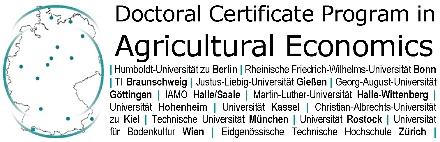 Logo Doctoral Certificate Program in Agricultural Economics